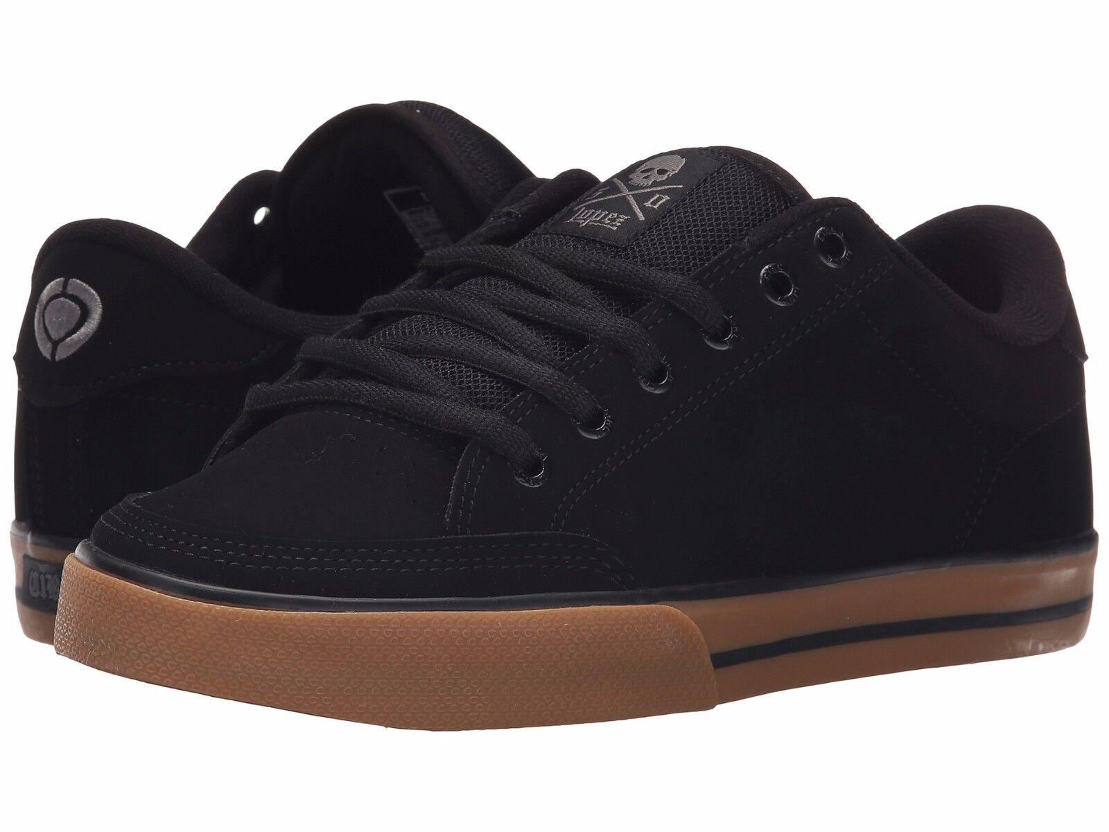 D, M Mens Circa Lopez 50 AL50-BKWT Black Nubuck Skateboarding Shoes Medium