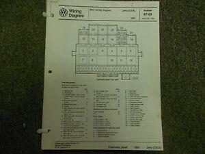 1987 vw jetta cis e main wiring diagram service repair shop manual image is loading 1987 vw jetta cis e main wiring diagram