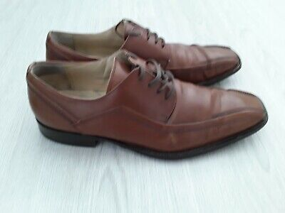 Mens brown leather shoes size 8 - Made by Kenneth Cole