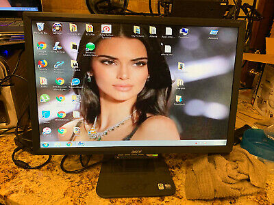 "Acer AL2216W 22"" Widescreen LCD Monitor Computer PC Gaming VGA DVI-D w/cables"