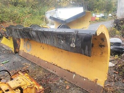 Heavy Duty Power Angle 11 Ft Snow Plow Hydraulic Truck Tractor