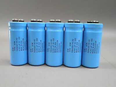 Lot Of 5 Cornell-dubilier Fah4300-40-a2 Electrolytic Capacitor