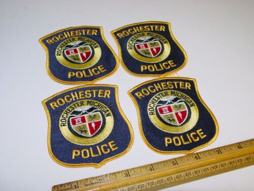 4 Retired Rochester City Michigan Police Patch Patches