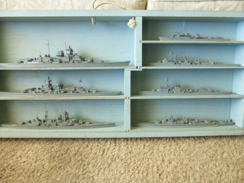 WWII US NAVY GERMAN RECOGNITION SHIP MODELS BOX SET OF (8) TEACHERS MODELS