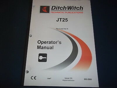 Ditch Witch Jt25 Drill Tier 3 4 Operator Operation Maintenance Manual Book