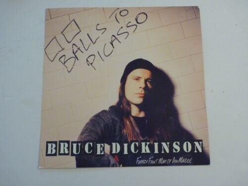 Bruce Dickinson Balls to Picasso 1994 Promo LP Record Photo Flat 12x12 Poster