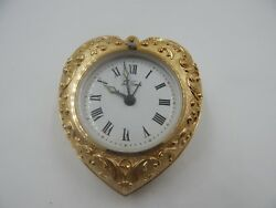 Seth Thomas Heart Shaped Travel Alarm Clock Vintage