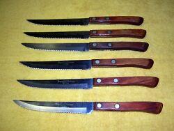 Vintage Regent Sherwood Stainless Steel Steak Knives. Set of 6
