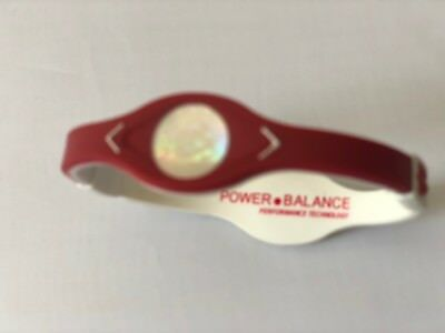 Red &White Power Balance Energy Bracelet Game Day Silicone Wristband Bands LARGE