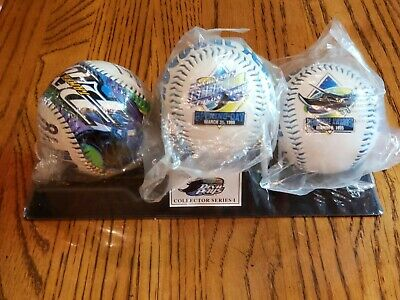 Official-1998 TAMPA BAY DEVIL RAYS INAUGURAL SEASON BASEBALLS (3) Sealed Mint