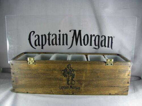 "Captain Morgan Bar Condiment Caddy, 18-3/4"", faux wood, 2013, dispenser, barware"