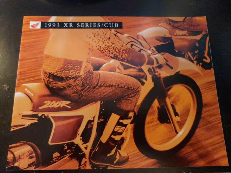 VTG 1993 HONDA XR SERIES CUB CYCLE SALES BROCHURE
