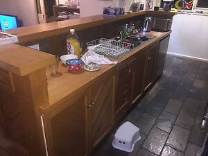 Second Hand Kitchen with oven, gas hob, range hood and sink Ashwood Monash Area Preview
