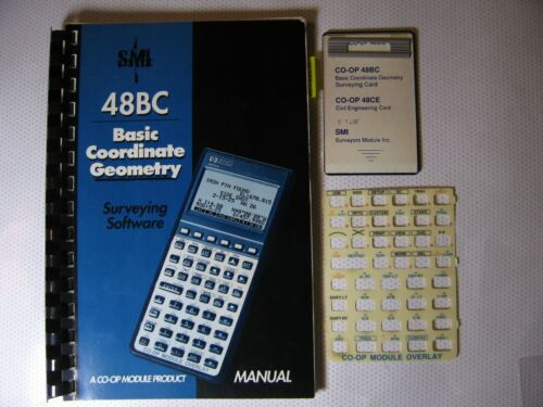 SMI 48BC Basic Coordinate Geometry Surveying Software + Overlay and Manual