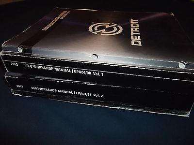 Detroit Diesel S60 60 Natural Gas Engine Service Shop Repair Manual Book Set