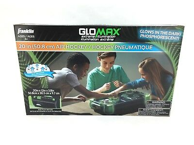 Franklin GloMax Air Hockey Table - Glow in The Dark Table Top Game (Air Hockey Table Glow In The Dark)
