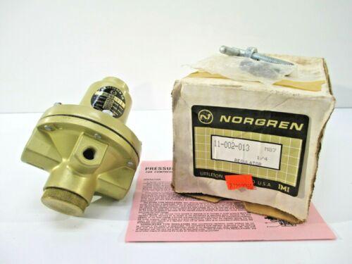 """NORGREN PRESSURE REGULATOR 11-002-013 NEW MACHINERY 1/4"""" PORT 400 PSI"""