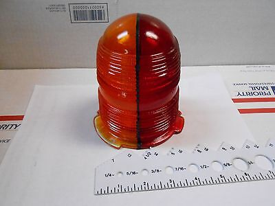 50022YR SPLIT 2 COLOR GLASS GLOBE RED/YELLOW 5 1/5 TALL 3 1/4 INSIDE