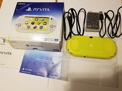 RARE! Lime Green PS Vita Slim CFW 3.60 Henkaku ENSO 128GB SD2VITA. Retroarch PSP