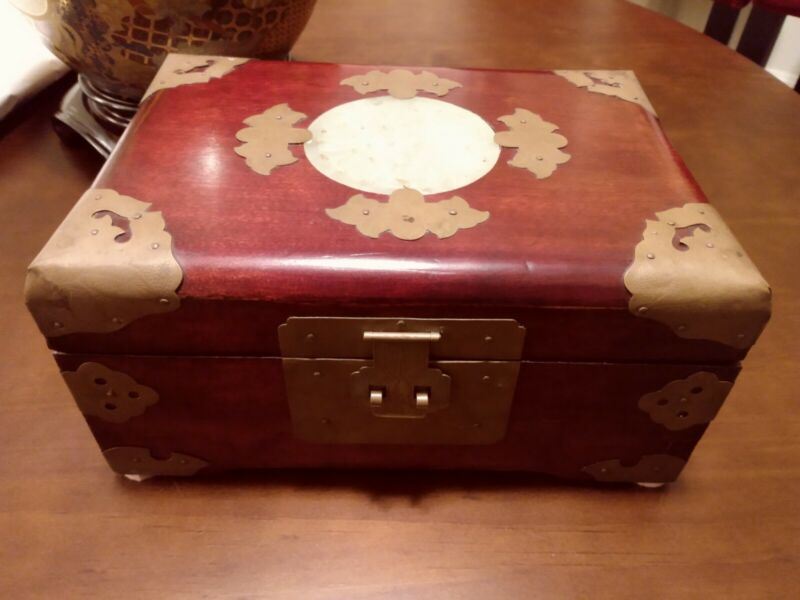 Vintage Asian Rosewood Jewelry Box