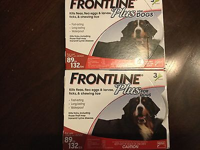 FRONTLINE PLUS FLEA AND TICK CONTROL FOR DOG 89-132 LB 6 MONTH SUPPLY- USA