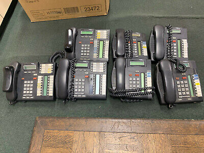 7 Very Used Charcoal Nortel Phones 3 T7316e 4 T7208 Please See Pics...