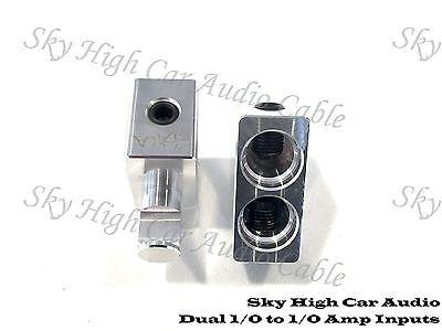 Pair Sky High Car Audio DUAL 1/0 Gauge to 1/0 Gauge Amp Inputs Reducers Input