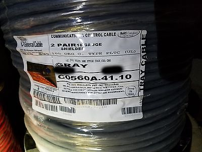 General Cablecarol C0560a 182p Shielded Twist Pair Pltc Tray Cable 105c 100ft