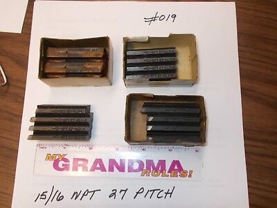 Landis Thread Chasers Used 1516 X 27 Npt Pitch