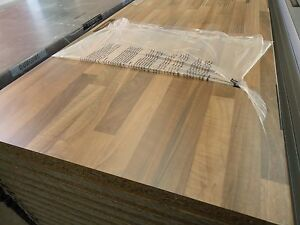 LAMINATED BENCHTOP KITCHEN 4.1m duropal heat resitant tight form walnut laundry