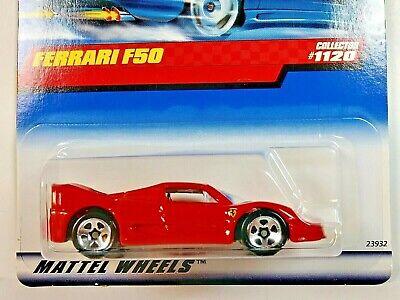 1999 Hot Wheels Mainline #1120 Ferrari F50 Challenge Red 5 Spoke Wheels