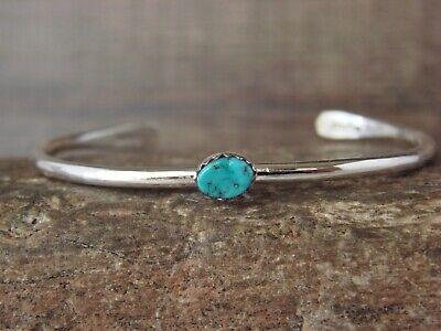 Native American Navajo Indian Silver & Turquoise Bracelet Signed Skeets