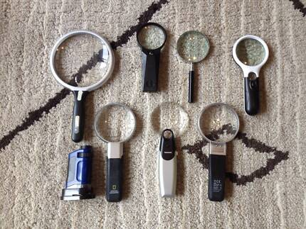 Assorted magnifying glasses and microscope Holder Weston Creek Preview