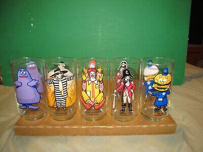 McDonalds Character Glass Set Of Five / Original Vintage Collectors Glassware...