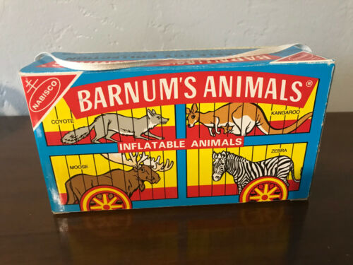 Nabisco Barnum Circus Animal Cookie Collectible Box Inflatable Ram