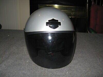 Harley Davidson Jet II Silver Motorcycle Helmet XXL 2XL Ex. Cond. With bag