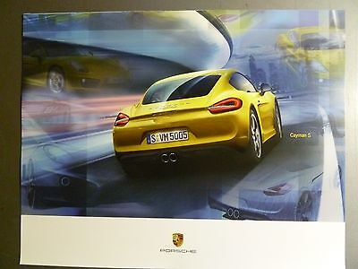 2014 Porsche Cayman S Coupe Showroom Advertising Poster RARE Awesome L@@K