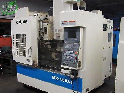 Okuma Mx-45vae Cnc Vertical Milling Machine Id M-063