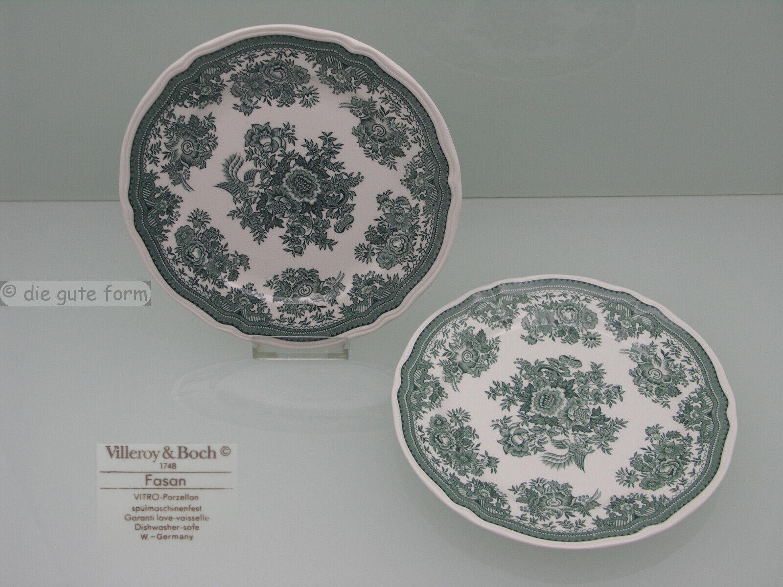 Ø ca 23,7cm Teller flach Villeroy /& Boch: Fasan grün