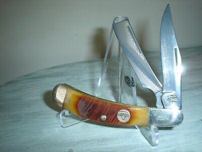 Keen Kutter CLASSICS SAW CUT BROWN BONE Razor Pocket Knife 2007 1 OF 1000 NIB
