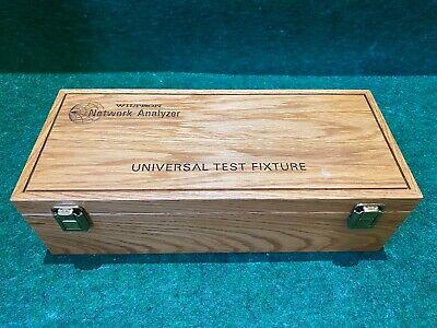 Anritsu Wiltron Network Analyzer 3680k 40ghz Universal Test Fixture Kit Wbox