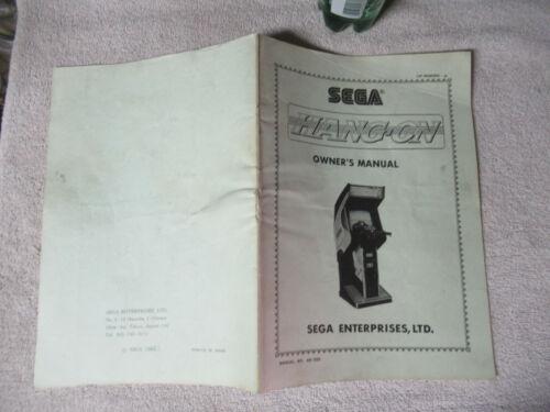 HANG ON SEGA  arcade game manual