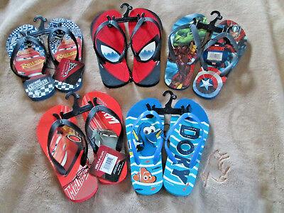 Kids /Youth Flip Flops Disney Cars, Dory, Marvel Avenger, Spiderman Choice Theme