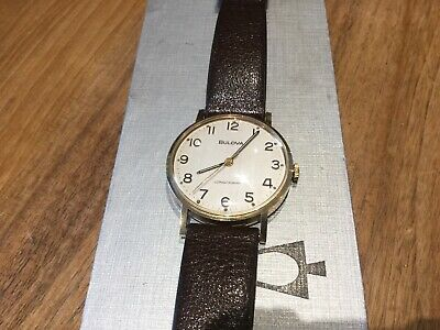 1970's 9ct Gold Bulova Longchamp Mechanical Watch
