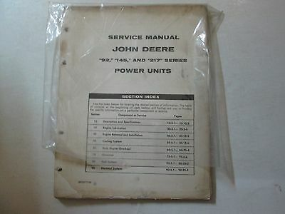 John Deere 92 125 217 Series Power Units 92 125 217 Service Manual Deere Oem