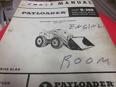 International Hough H-30r Pay Loader Parts Manual