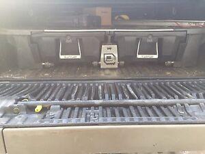 Decked truck tool storage
