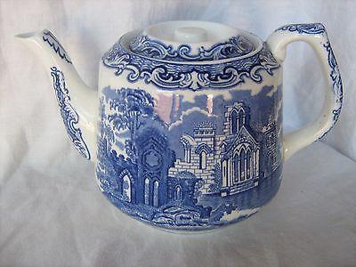 Vintage George Jones & Son Abbey blue and white tea pot