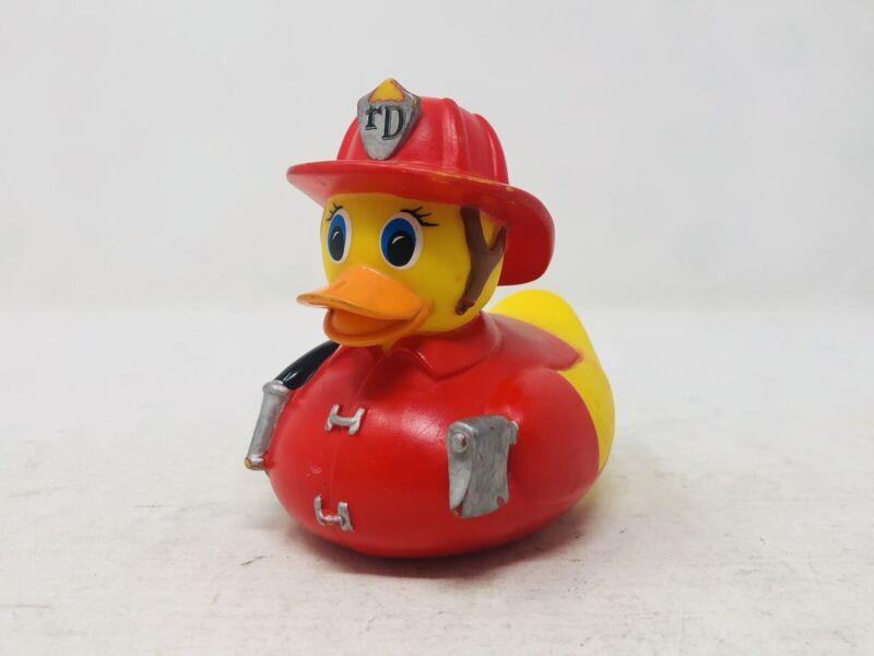 """Munchkin HOT Rubber Ducky Firefighter Fire Department Duck 4"""" Figure"""