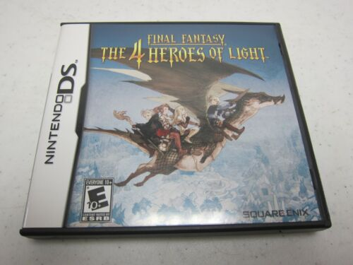 Final Fantasy The 4 Heroes of Light (Nintendo DS 2010)AUTHENTIC CIB TESTED NICE!
